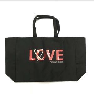 Victorias Secret Love Canvas Tote Bag